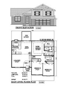 Nv14308 Split Level New Ventures Custom Home Designs Online House Floor Plans Lincoln Ne