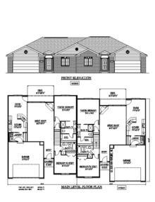 NV15302 - Duplex | New Ventures - Custom Home Designs ...